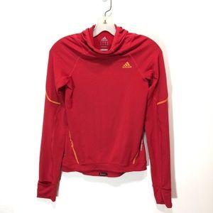 Adidas Clima365 Red Cowl Neck Sweatshirt